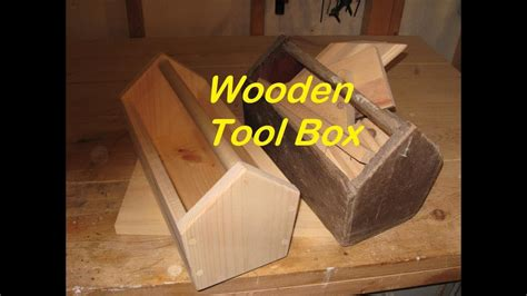 fashioned wooden tool box youtube