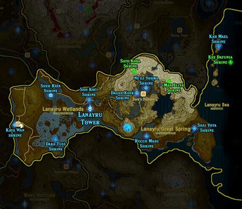 legend of zelda map location zelda breath of the wild shrine maps and locations polygon