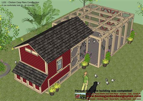 home garden plans l101 chicken coop plans construction