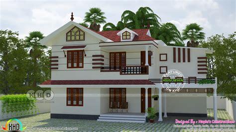 1841 square modern kerala style home renovation