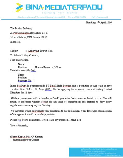 Surat Permohonan Sponsor Dalam Bahasa Inggris by Surat Permohonan Sponsor Dalam Bahasa Inggris Contoh