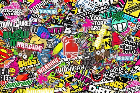 F3 5l5 Wallpaper Sticker Bunga sticker bomb 2 random and diy stuff