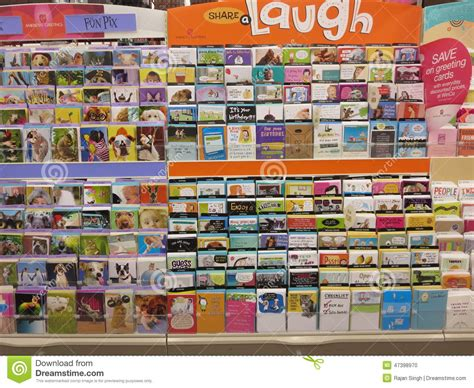 card shop greeting card editorial image image 47398970