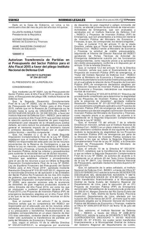 decreto supremo n 010 2015 minedu modifica el reglamento decreto supremo n 176 203 2015 ef que modifica el ds 287 2014