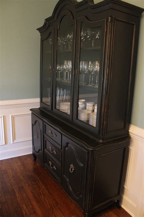 Black China Hutch 17 Best Ideas About China Cabinet Painted On Pinterest