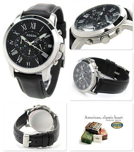 Big Sale Jam Tangan Import wts fossil grant black leather