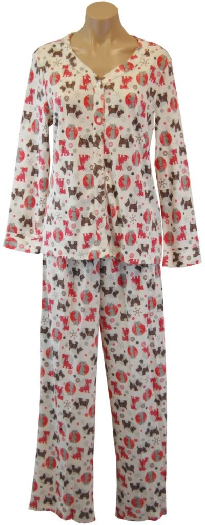 yorkie pajamas neuburger yorkie pajama set 2 salmon cotton poly nwt ebay
