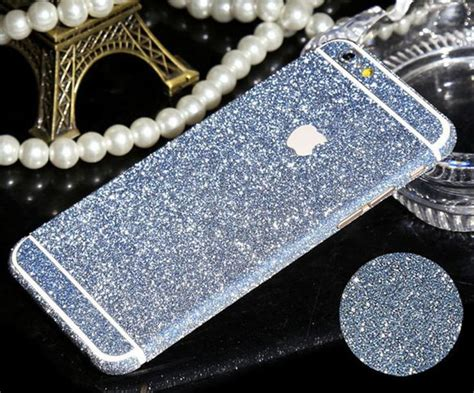 Gliter For Iphone 6 Plus Color Yellow iphone 6 plus 6 6s frosted glitter decal skin in assorted colors colors places and