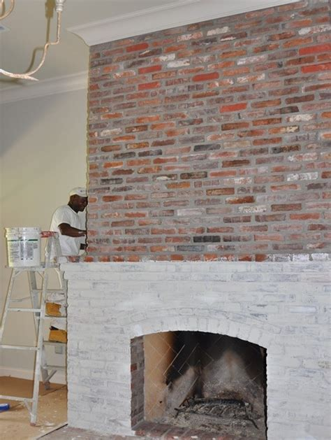 Acid Wash Brick Fireplace by Lime Washing Brick Fireplace Newhairstylesformen2014