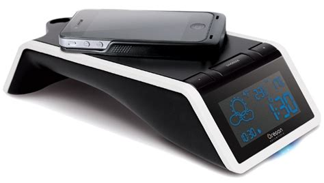 wireless charging station oregon scientific s time and wireless charging station