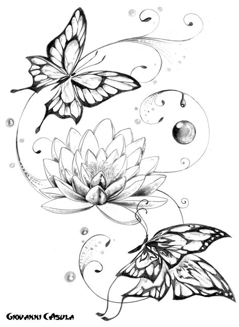 butterfly flower tattoo designs free pin by erin mccullough on ink tattoos lotus