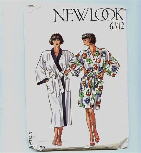 free pattern kimono robe vintage new look kimono robe pattern uncut kimono robe