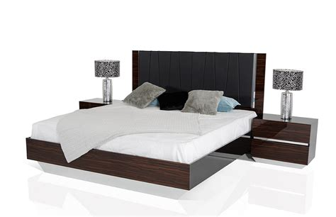 lacquer bedroom set luxor italian modern ebony lacquer bedroom set
