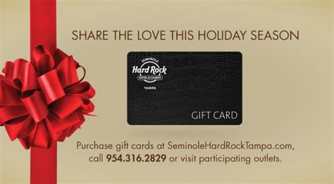 Hard Rock Gift Card - share the love this holiday season with a seminole hard rock ta gift card