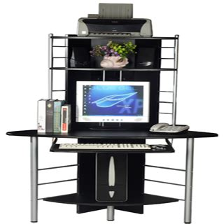 tall corner computer desk tall computer desk buy quality tall computer desk in black