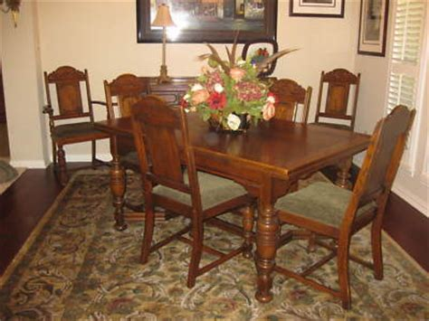 antique oak dining room sets furniture price guide