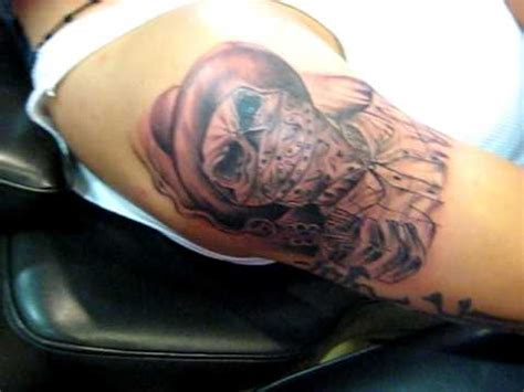 w tattoo skull w gun by hugo mayen