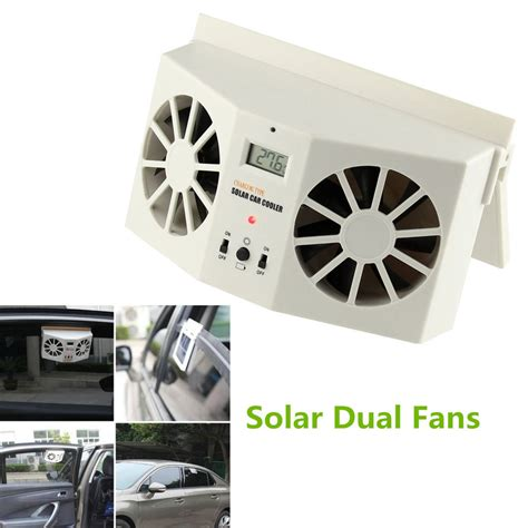 Car Cooler Fan Ventilation Solar Powered Rudianto solar powered car window windshield auto air vent cooling
