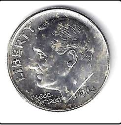1964 silver roosevelt dime us mint uncirculated grade ebay