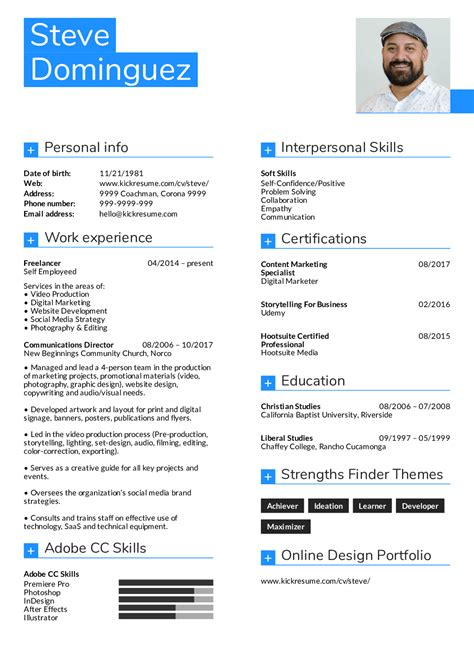 graphic design resume skills pdf format business document