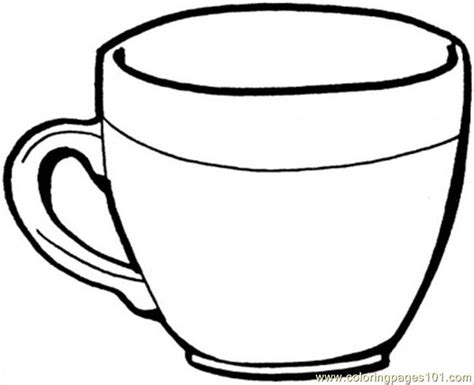 free coloring pages of cup of milk