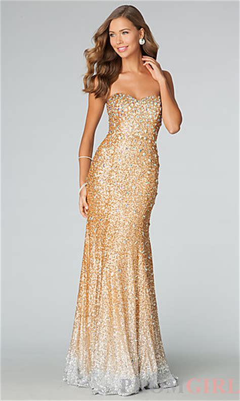 Where To Buy Cheap Duvet Covers Strapless Gold Sequin Gown Gold Sequin Prom Dresses Promgirl