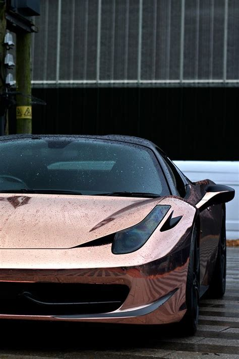 ferrari rose gold chrome rose gold cars trucks motorcycles pinterest