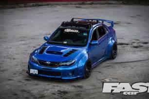 Subaru Sti Hatchback Modified Widebody Subaru Impreza Wrx Sti Fast Car