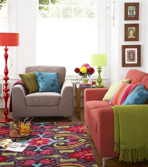 bright colored living rooms style on a shoestring you really don t have to splash