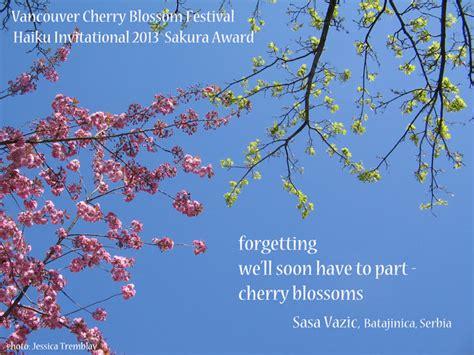 Japanese Blossom Tree forgetting haiku by sasa vazic vancouver cherry