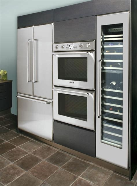 Designed Kitchen Appliances 24 Modern Wine Refrigerators In Interior Designs Messagenote