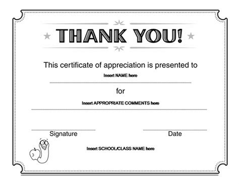 thank you certificate templates free best photos of free certificates of recognition