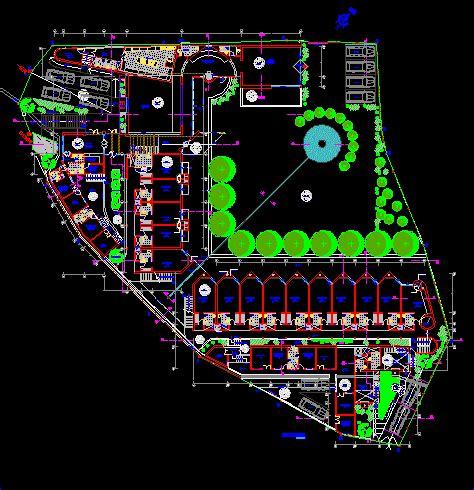 hotel floor plan dwg tourist hotel 2d dwg design detail for autocad designs cad