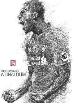 Jaket Parasut Black Ink Liverpool mohamed salah liverpool player liverpool fc black ink drawing illustration liverpool