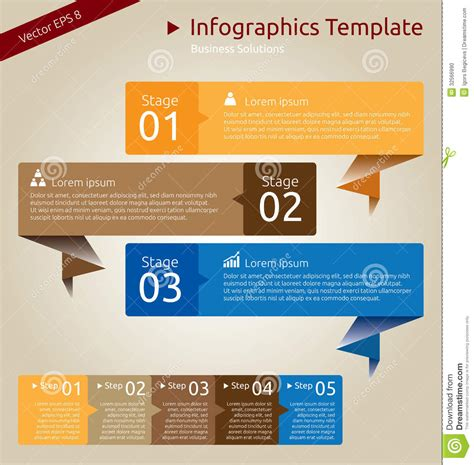 presentation in template infographics template stock vector image of layout