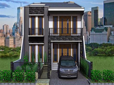 desain rumah tingkat 2 2 storey modern minimalist house design nyoke house design