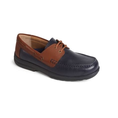 extra wide boat shoes padders devon mens leather extra wide plus boat shoes navy