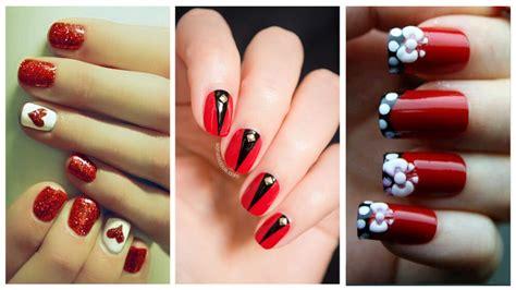imagenes de uñas pintadas de color rojo y blanco 67 fotos de u 241 as color rojo red nails decoraci 243 n de
