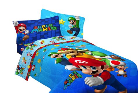 mario bedroom mario brothers bedding set for kids for the littlest gamer