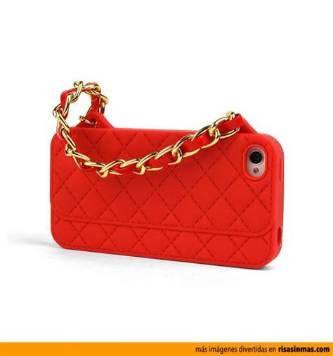 fundas divertidas iphone 5 funda iphone 5 bolso chanel rojo