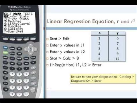 calculator regression linear regression by calculator youtube