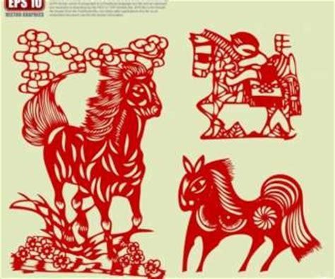 new year paper cutting template traditionelle scherenschnitt kultur pferd vektor misc