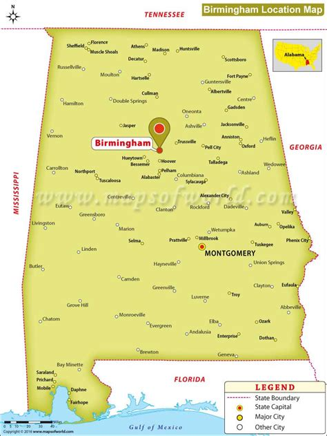 birmingham usa map where is birmingham alabama