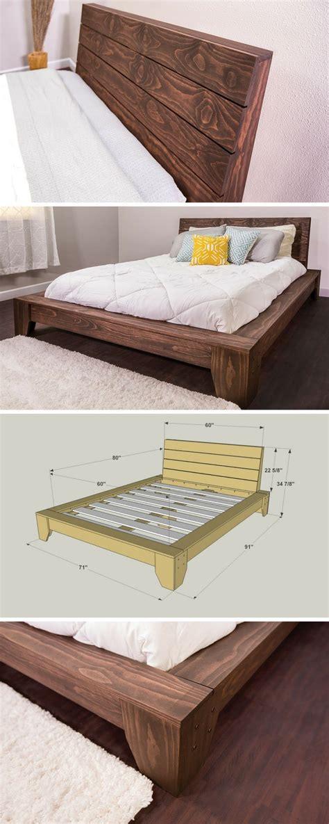 Pine Bed Frame Plans Best 25 Diy Platform Bed Ideas On Pinterest Diy Platform Bed Frame Platform Beds And Diy Bed