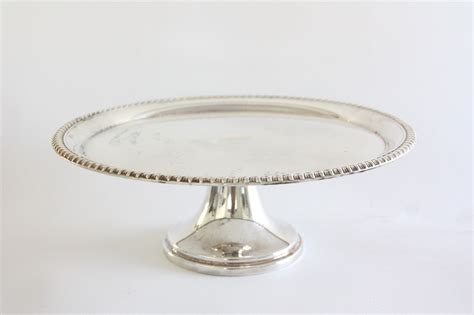 vintage silver plate cake stand borrowed blue