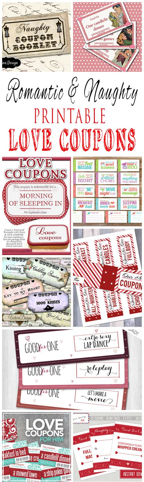 printable boyfriend vouchers romantic and naughty printable love coupons for him