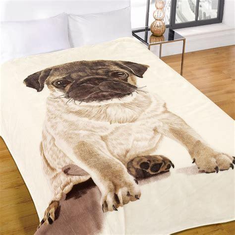 pug blanket pug mink fleece blanket throw tonys textiles