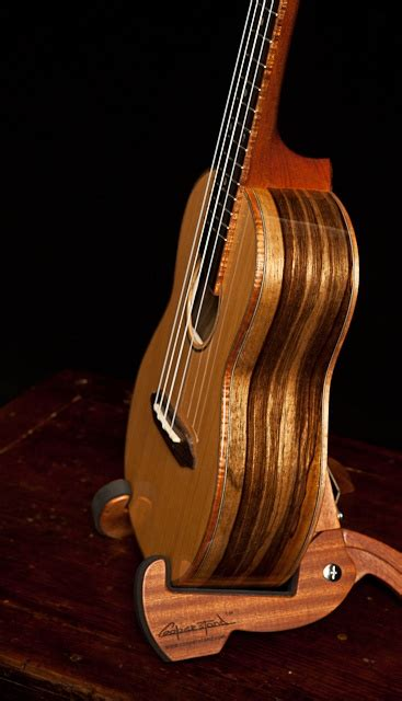 Handcrafted Ukulele - handcrafted concert ukulele black limba and cedar lichty