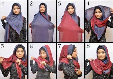 tutorial pashmina bolak balik kreasi cantik dengan hijab pashmina modern double warna