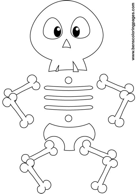 free coloring pages of labeling the skull